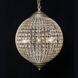 Globe Gold Chandelier