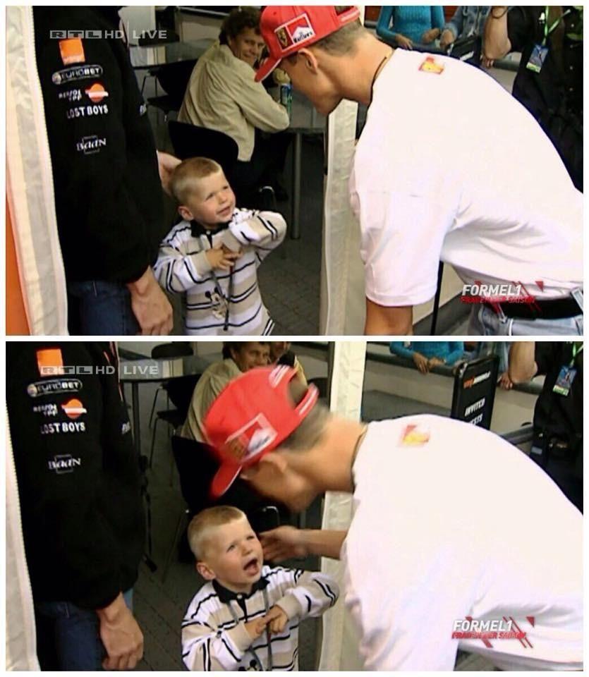 Here S Michael Schumacher Meeting A Baby Max Verstappen In 2020