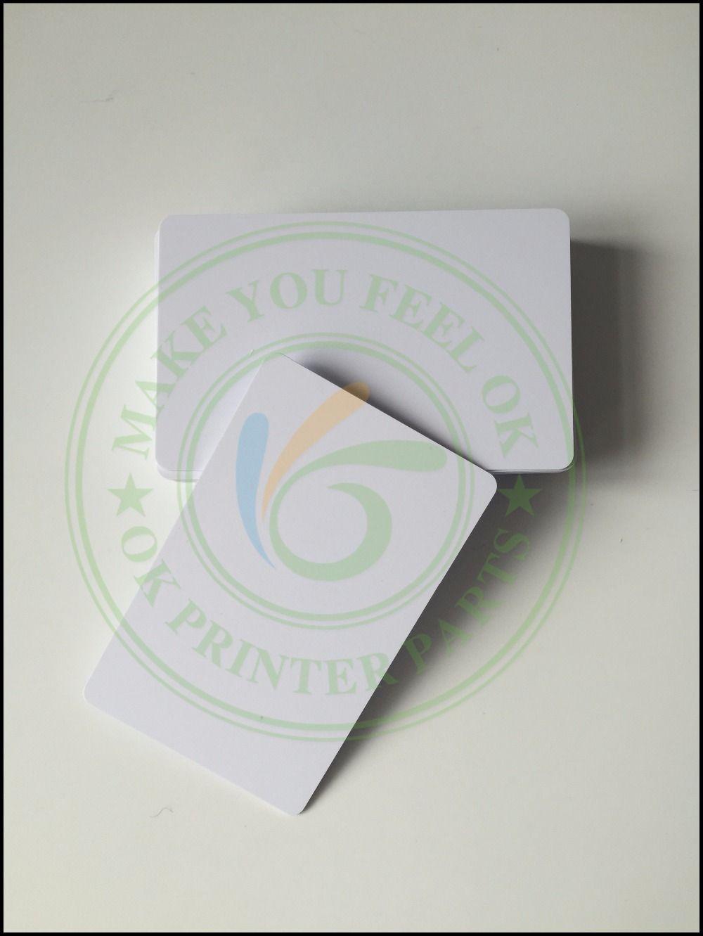100 glossy White Blank inkjet printable PVC Card Waterproof plastic ...