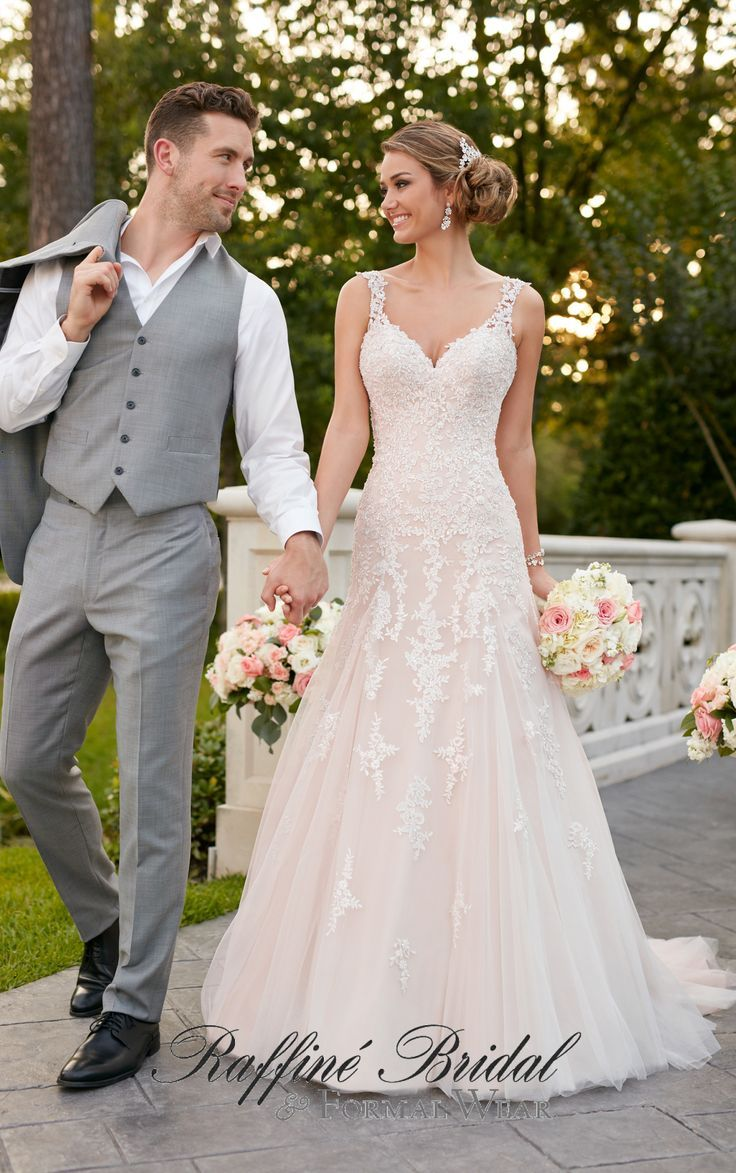 Stella york this modified aline gown from stella york is