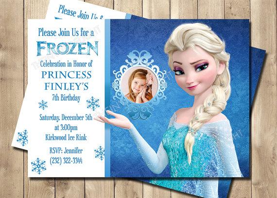 Frozen Elsa Birthday Invitation Frozen By Theinvitedelight Elsa Birthday Invitations Frozen Birthday Party Invites Frozen Birthday Invitations