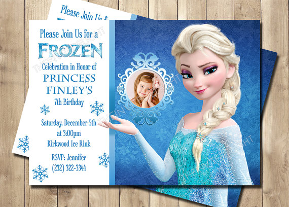frozen elsa birthday invitation frozen