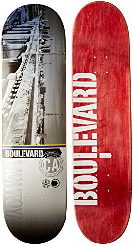 Blvd Skateboards Cityscape Montoya Deck, 8.25-Inch: Pro quality 7 ply Canadian maple skateboard deck Great deck for skaters just starting…