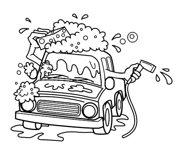 Cartoon Automatic Car Wash Coloring Pages Best Place To Color Cars Coloring Pages Coloring Pages Coloring Book Chance
