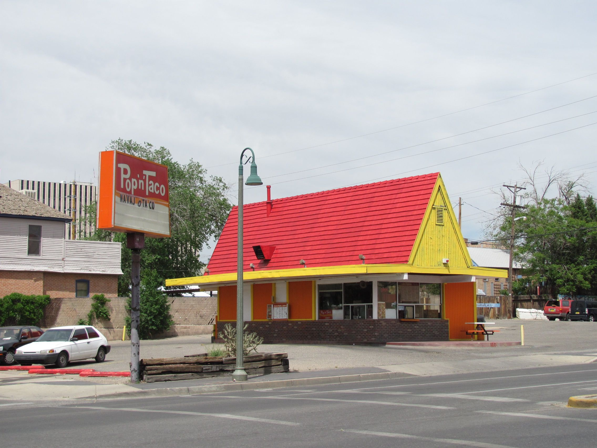 Pup N Taco Man, I loved to eat here. I would get a cup of