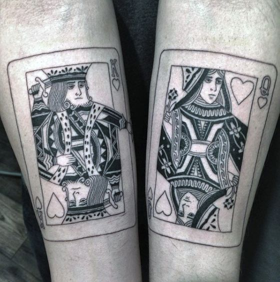 bb44a8f7f2bc0 90 Playing Card Tattoos For Men - Lucky Design Ideas | Tattooz ...
