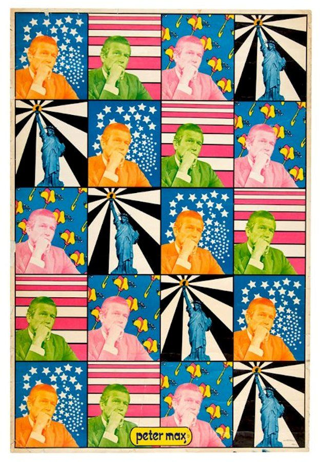 Peter Max poster for John Lindsay's 1969 NYC mayoral campaign