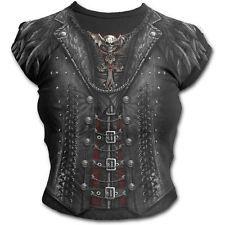 SPIRAL DIRECT printed GOTHESS WRAP CAP gothic ALTERNATIVE tshirt TOP BLACK