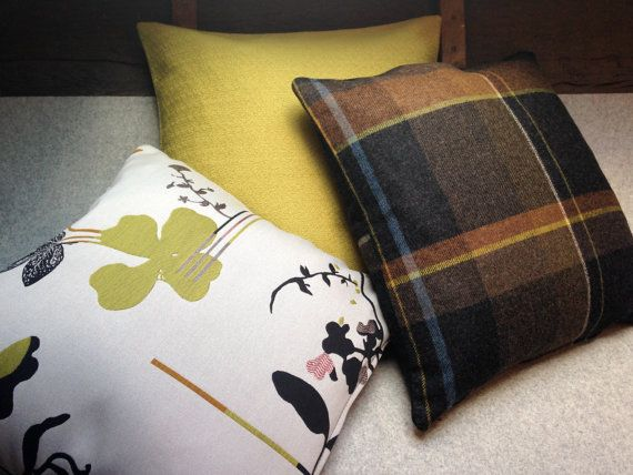 Cushion in Maharam Eden fabric by Hella Jongerius by WoolworksUK