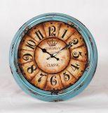 Vintage Old Style Metal Wall Clock
