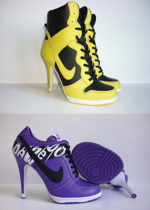 High-heeled sneakers from Inspire Me Now.