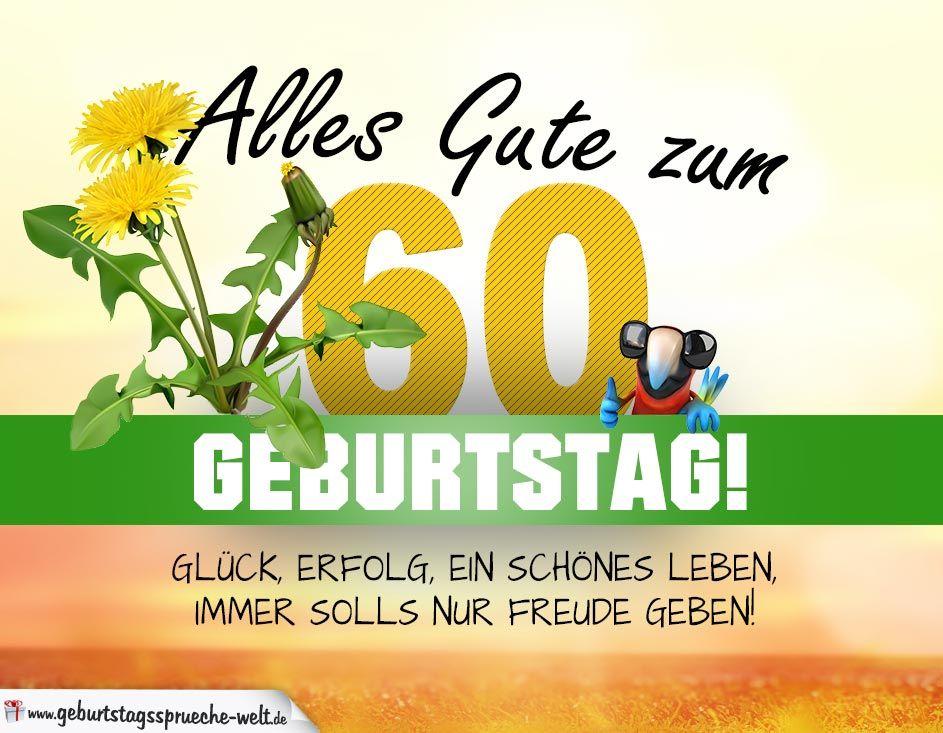 60 Geburtstag Geburtstagskarte Alles Gute Mit Schonem Spruch