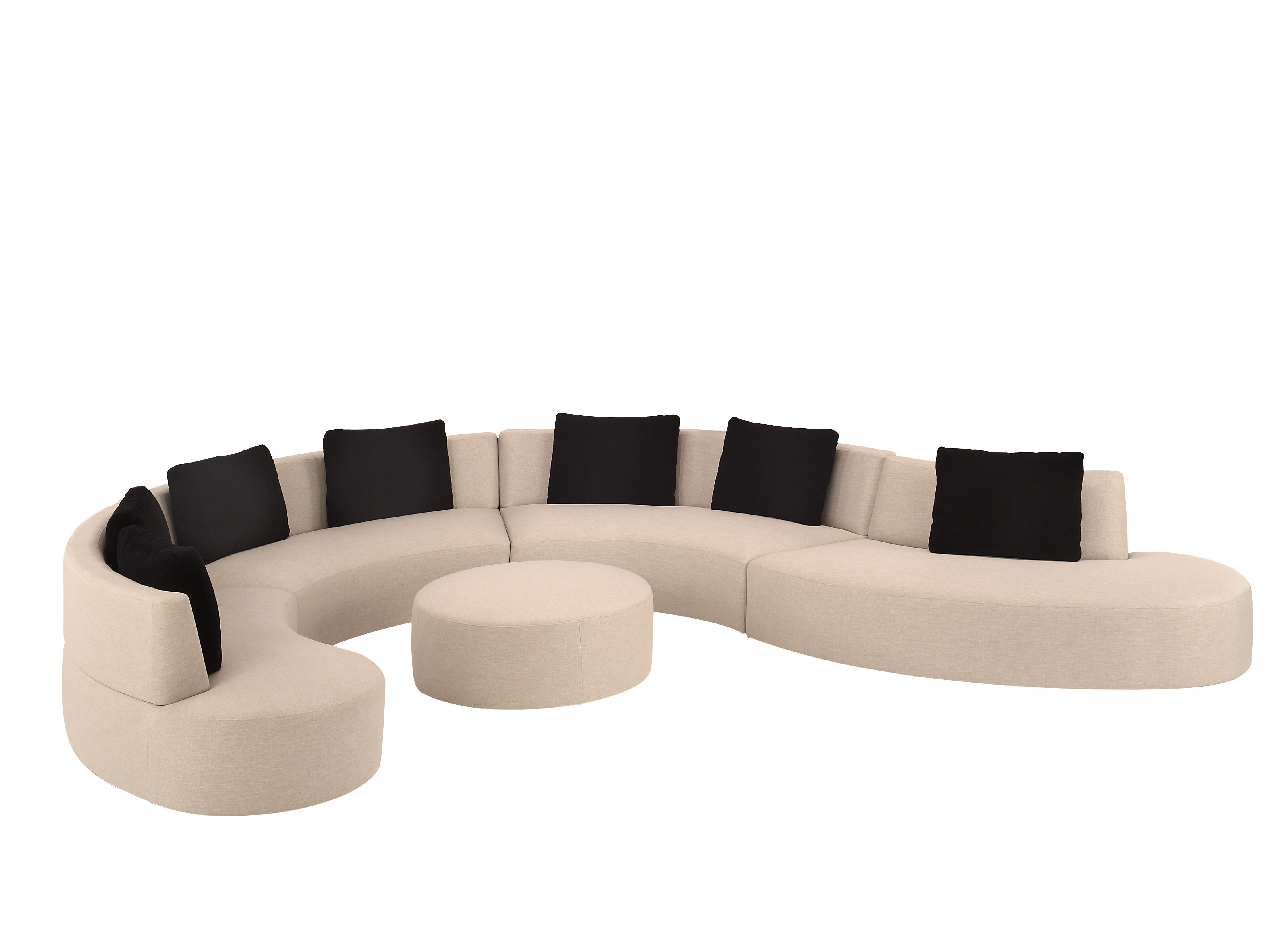 Curved Sectional | Curved Outdoor Sectional | Small Curved Sofas