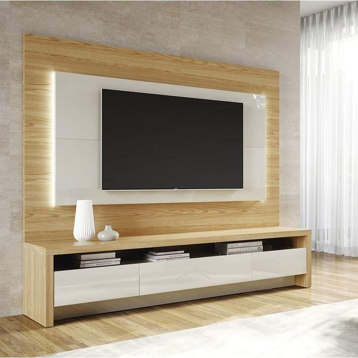 Makiver Tv Stand For Tvs Up To 85 Meuble Tv En 2019 Meuble Salon Meuble Tv Et Meuble Mural Salon