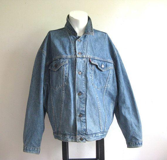 80's Grey Jean Jacket // Unisex // Sz Mens Medium, vintage jean jacket, levis vintage, grey, 1980s grunge