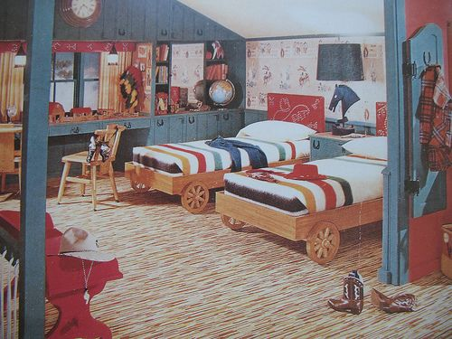 1950s Boy S Cowboy Attic Room In 2019 1950 S Cowboy