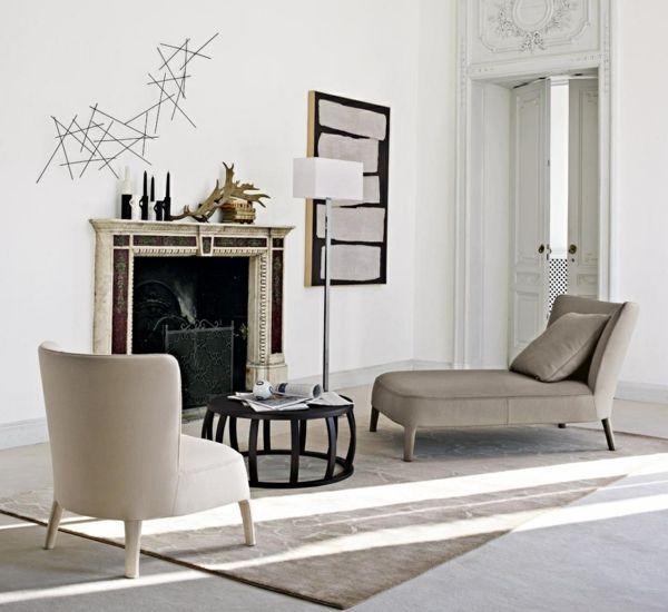 24 Modeles De Meridienne Design Chic Pour Votre Maison Archzine Fr Decoration Murale En Fer Parement Mural Mobilier De Salon