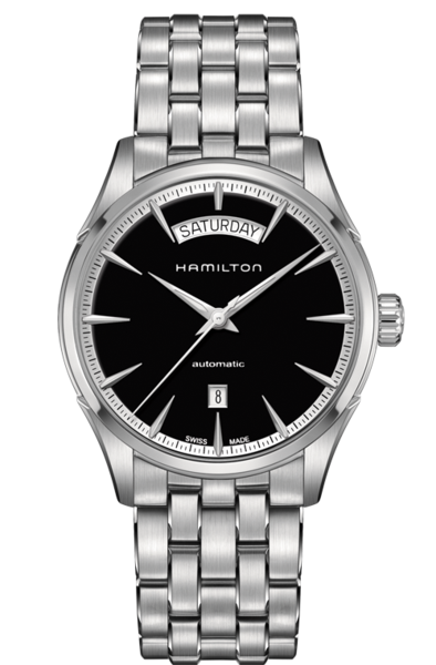 Hamilton Jazzmaster H42565131 Day Date Automatic Stainless Steel Watch -  River Edge Jewelers b0d2567230