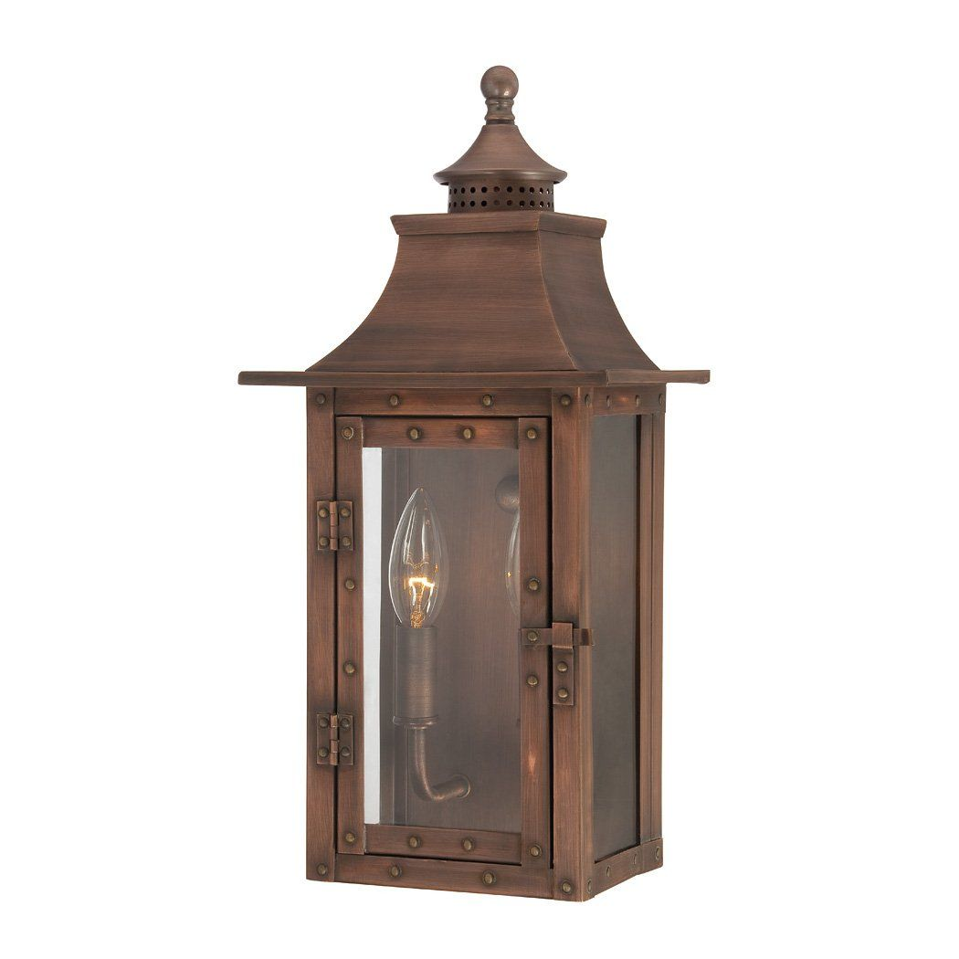Shop Acclaim Lighting 83 St Charles Solid Copper Outdoor Sconce At The Mine Br Outdoor Wall Mounted Lighting Wall Mount Light Fixture Outdoor Light Fixtures