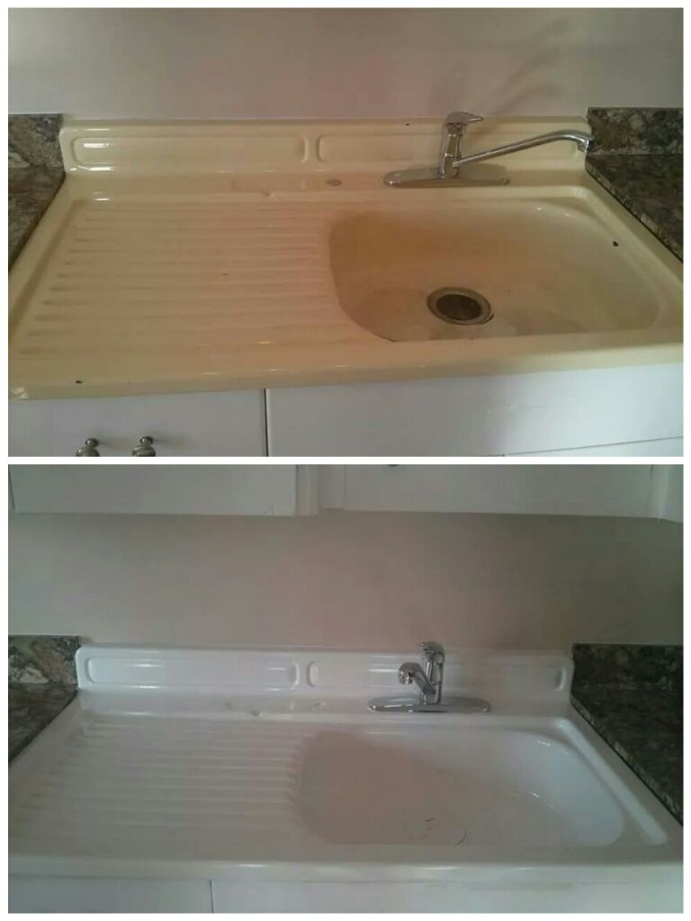 Kitchen Sink resurface done by Sublime Resurfacing | Our Work ...