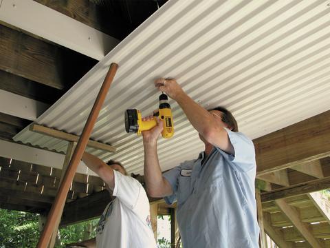 Tuftex Ultravinyl Under Deck Ceiling Roof Panels Corrugated Plastic Roofing