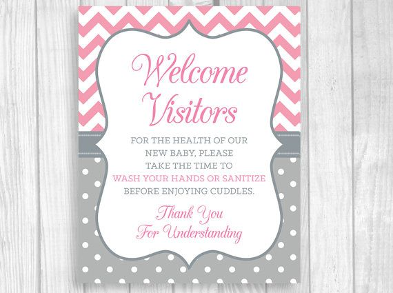 Printable 8x10 Please Wash Your Hands Meet And Greet Pink And
