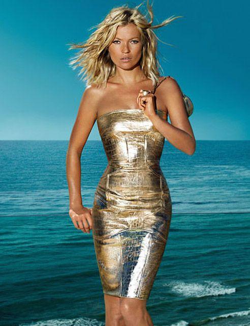 Kate Moss wearing Versace Dress.