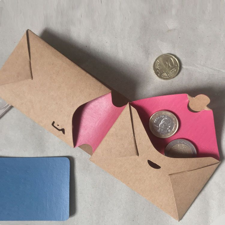 Beiges Portemonnaie Natur Altrosa Rosa Portemonnaie Rosa Geldborse Origami Design Origami Geldborse Und Diy Origami