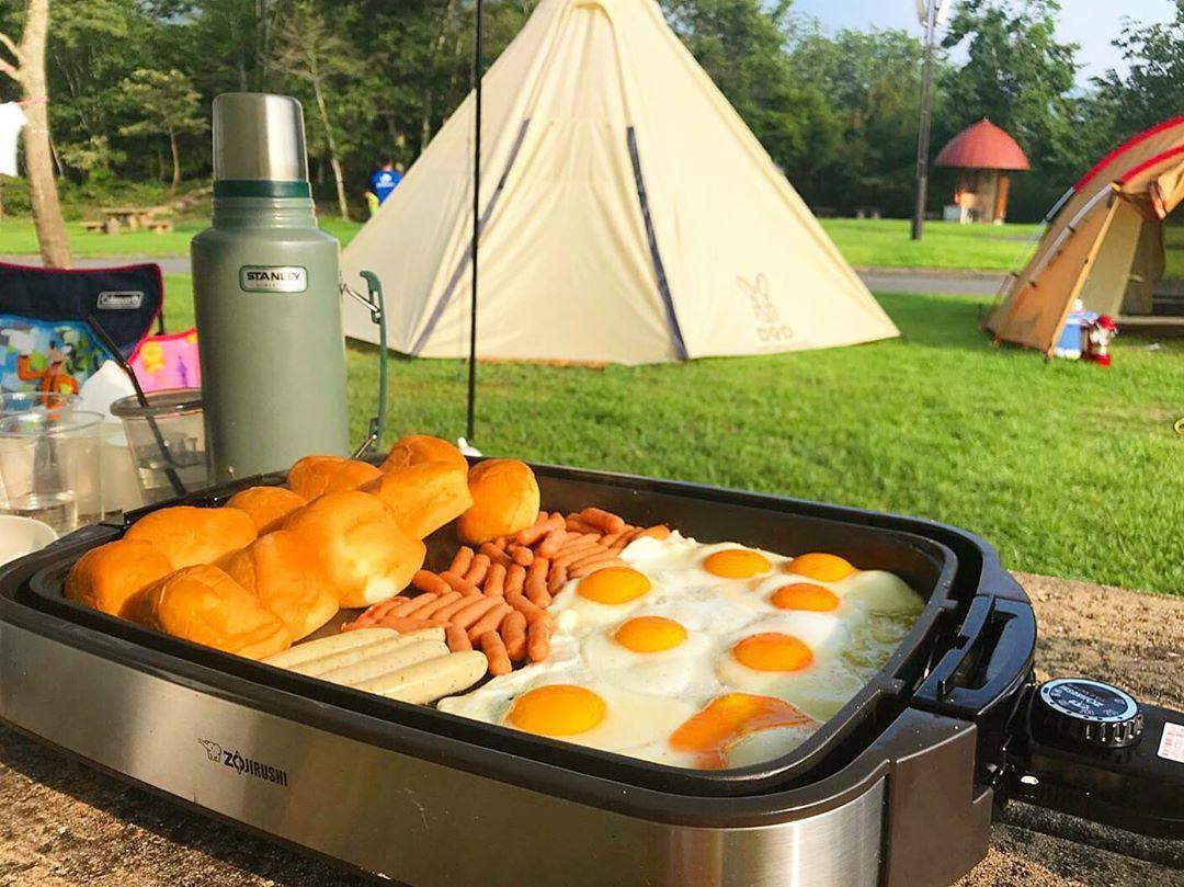 キャンプ 朝 ご飯