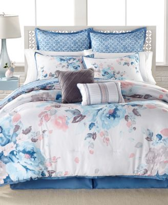 Lucia 8 Pc Reversible Comforter Set Only At Macy S Macys Com