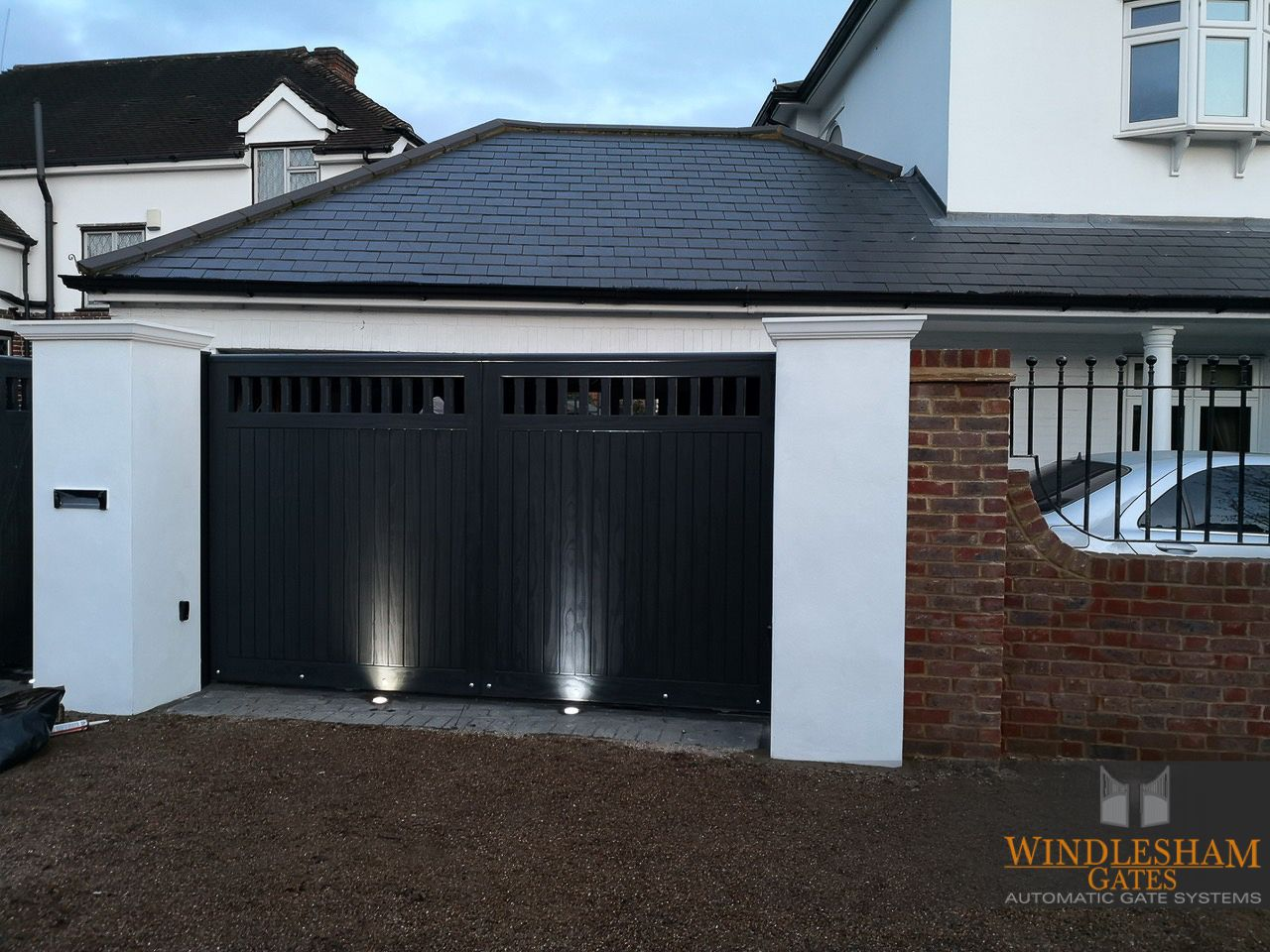 Sliding Gate For Garage Accoya Sliding Gate Windleshamgates