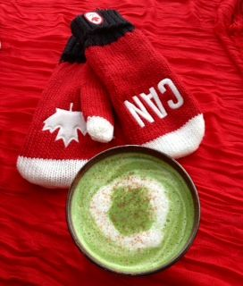 Maple Matcha Moment - celebrate the up and coming XXII Olympics Winter Games with our delicious Maple Matcha Latte. A true Canadian winner. Matcha, Canadian organic maple syrup, milk of your choice, topped with maple chocolate shavings. Go for the gold Canada!