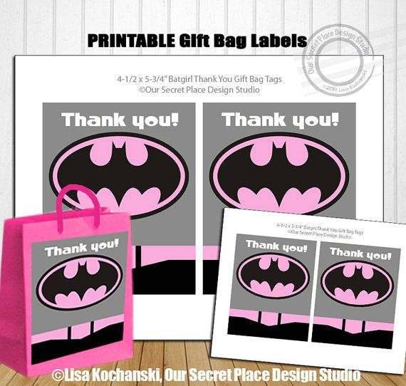Items similar to INSTANT DOWNLOAD Superhero Gift Bag Labels Superhero Gift Tags Superhero Thank You Superhero Bags Superhero Party Labels Thank You Labels on Etsy