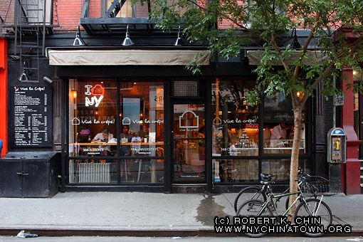 Vive La Crepe Little Italy Nyc New York Restaurant Exterior Little Italy Store Fronts