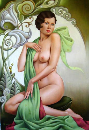 Petite Libellule / Catherine Abel / oil on linen / 33 x 48 inches