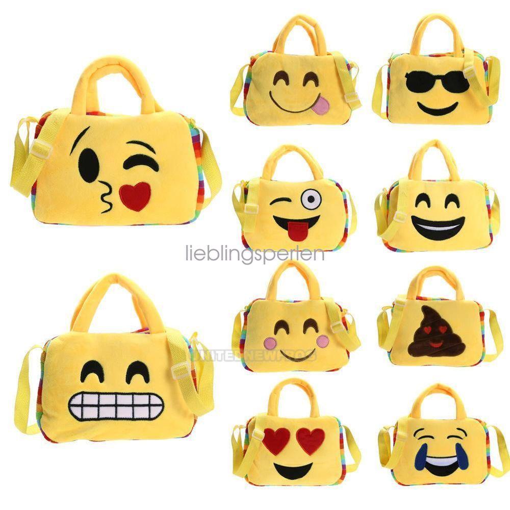 Kids Smiley Emoji Plush Toy Handbag Totes Purse Satchel Shoulder Bag School Bag Unbranded Backpackstyle Cartoon Shoulder Bag Purses Crossbody Bags