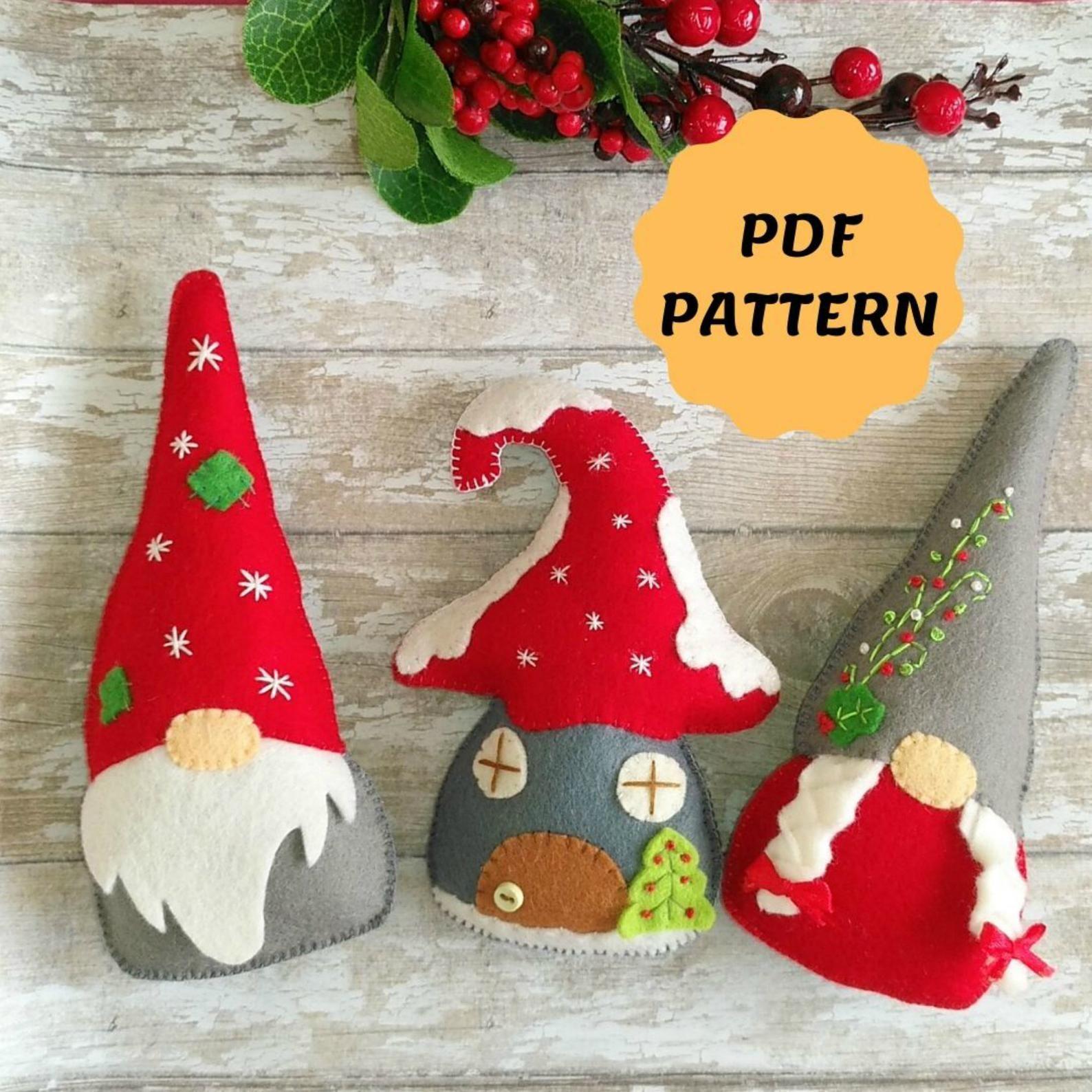 Felt Gnome Ornament Pattern Felt Christmas Ornaments Tomte Etsy Diy Felt Christmas Ornaments Sewn Christmas Ornaments Felt Christmas Ornaments