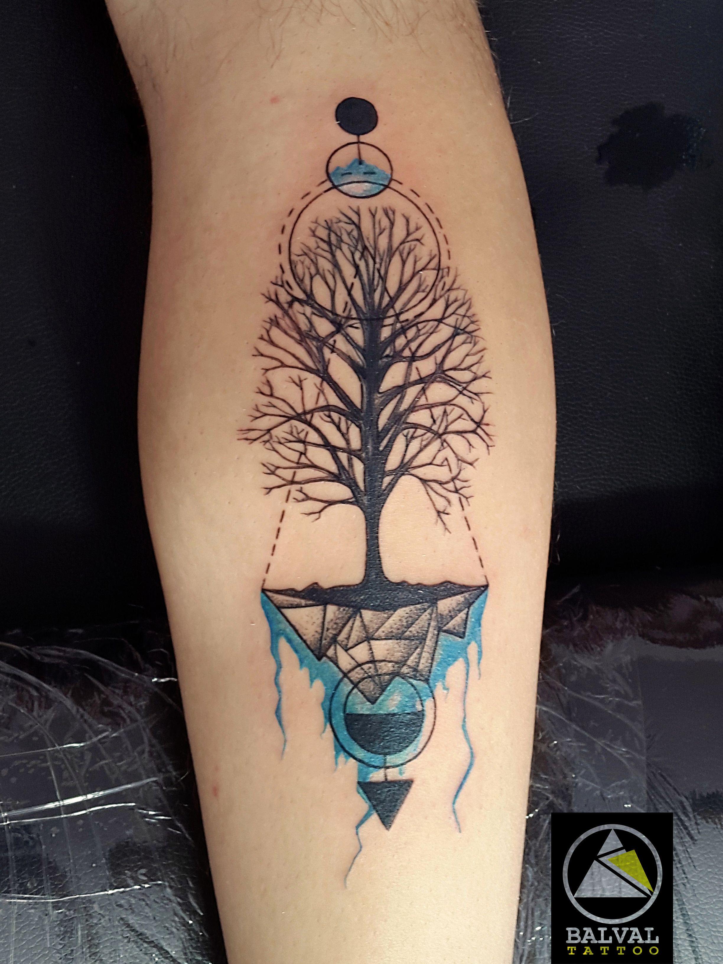 Tatuaje árbol De Vida El Crecimiento La Experiencia Y La Vida