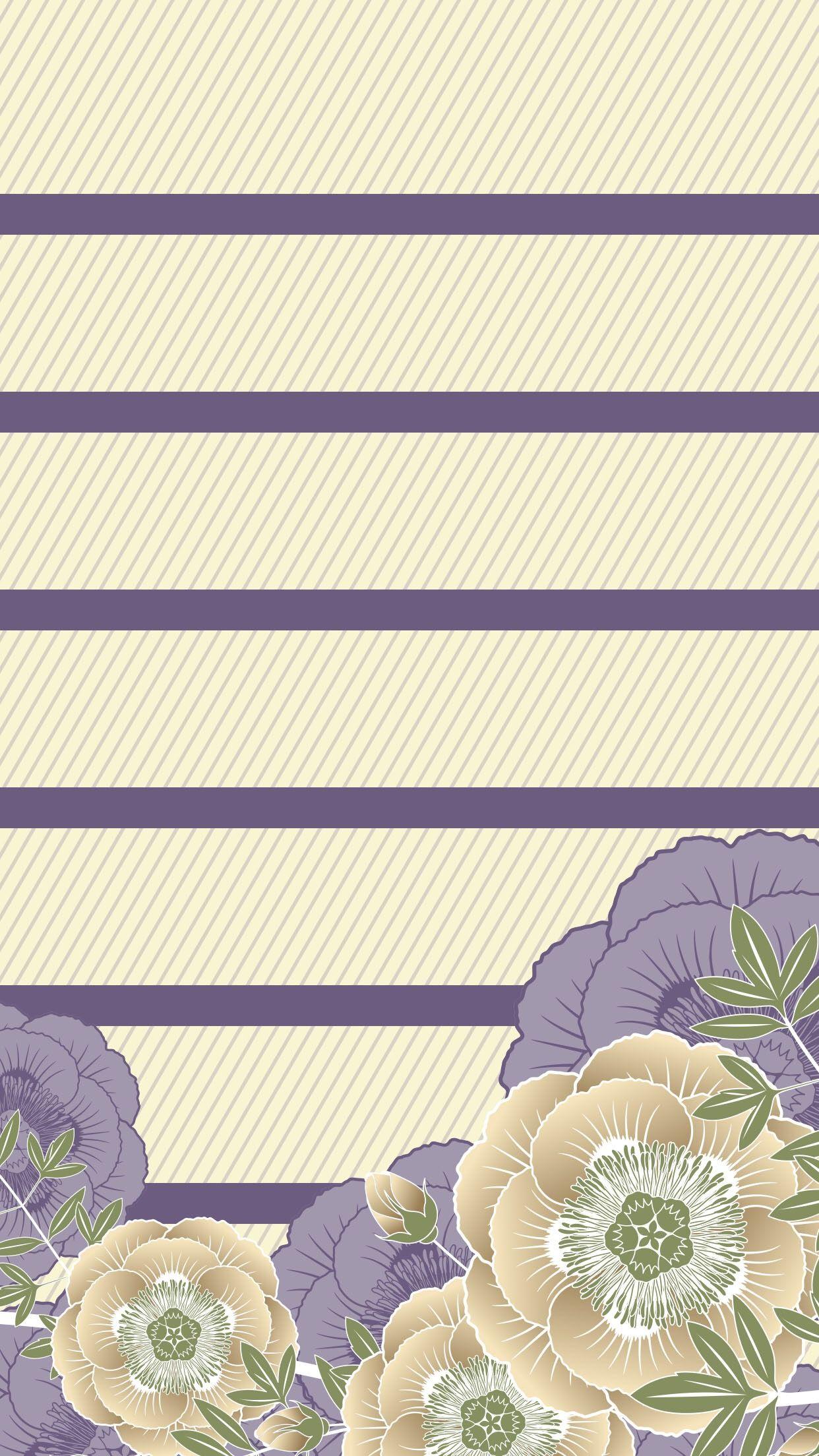 Tap And Get The Free App Shelves Flower Art Beige Purple