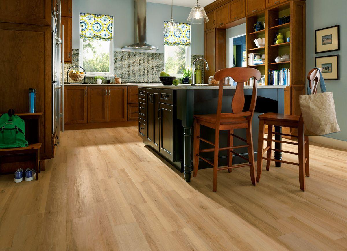 Blonde Wood Flooring Is Featured In This Kitchen Hardwood Unique Kitchen Floor Options 2018