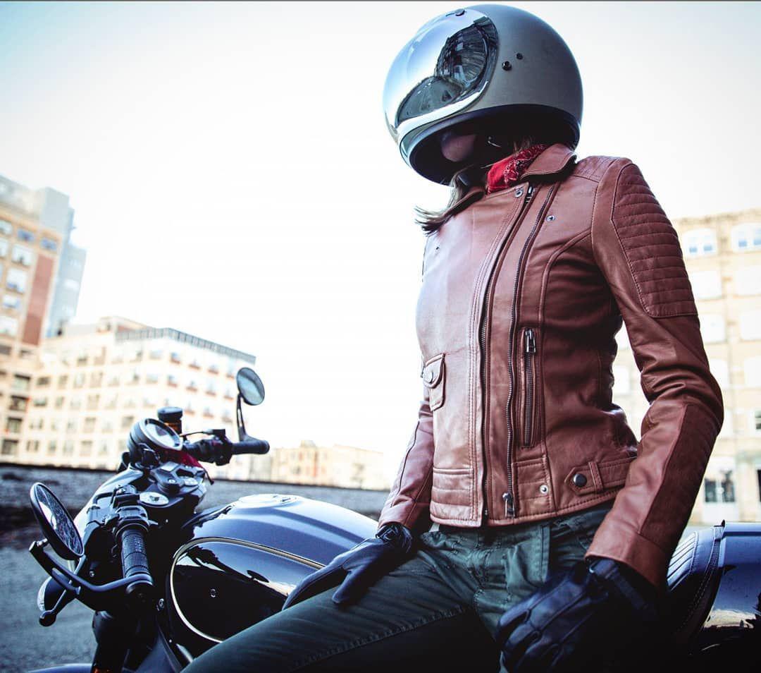 Ducati Scrambler Cafe Racer With Biltwell Gringo S Helmet And Jacket