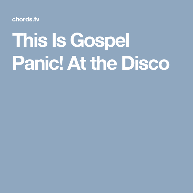 This Is Gospel Panic! At the Disco | Flute music | Pinterest ...