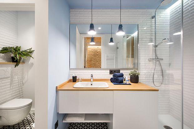 Cuarto de baño alicatado con baldosas biseladas   ♥Home ...