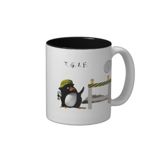 Hard Working Penguin Ready for the Weekend Coffee Mug
