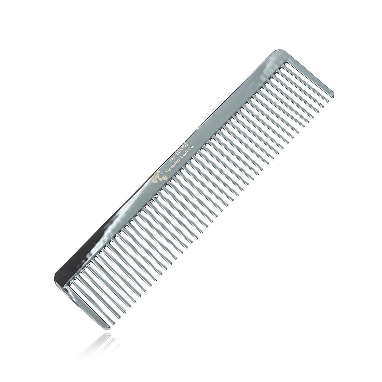 Masculine Craft Gunmetal Beard Comb Anti Static Fine To Medium Metal Hair Comb For Men Heavy Duty Professional Beard Grooming Com Beard Grooming Beard Combs
