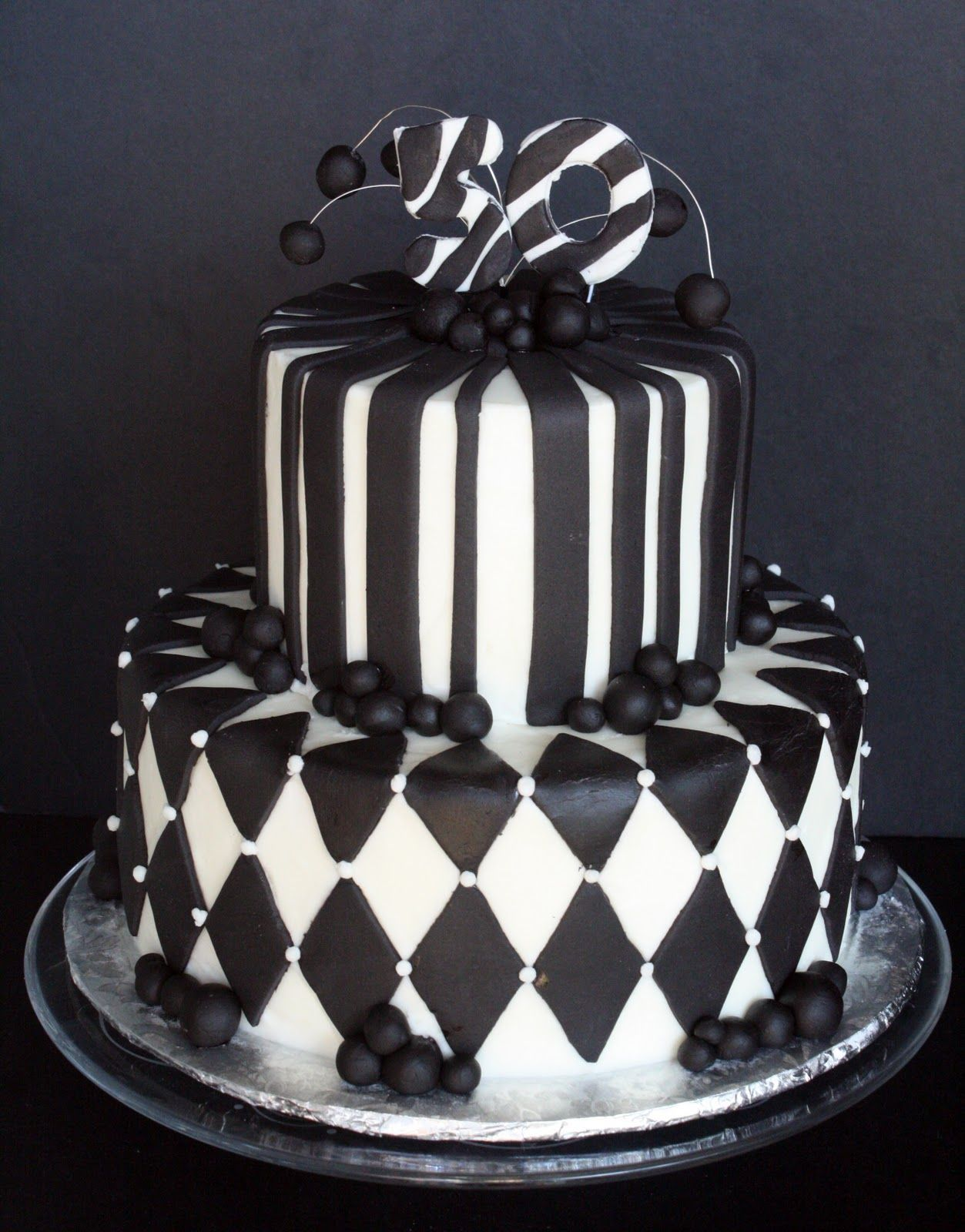 Black White 50th Birthday Cake White Birthday Cakes 50th