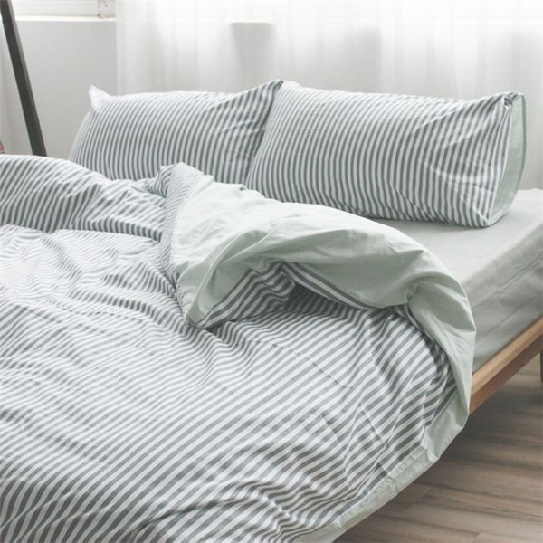 Grey And White Striped Duvet Cover Reversible Striped Duvet Striped Duvet Covers Duvet Covers