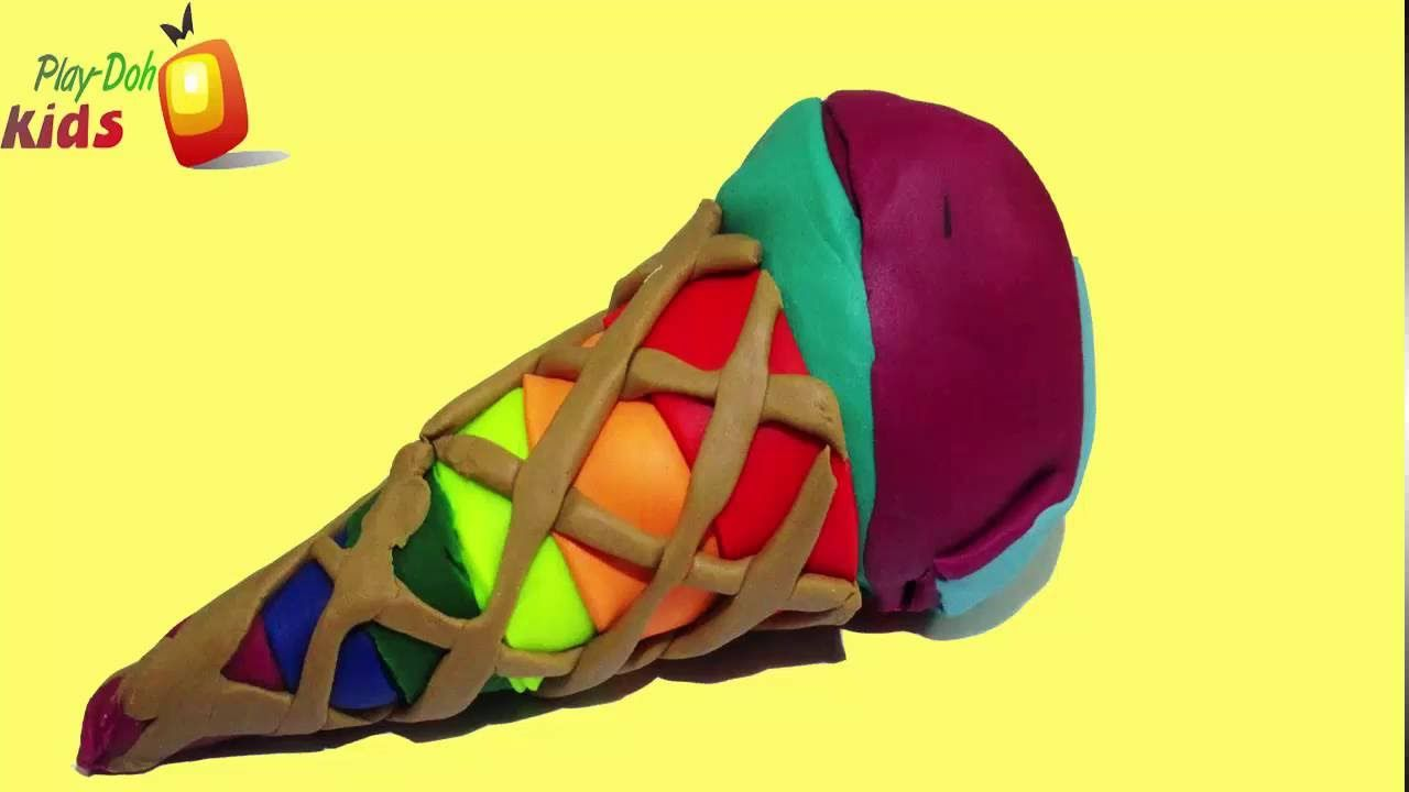 PLAY-DOH KIDS !! - Make Ice Cream Rainbow Colorful Playdoh For Peppa Pig...