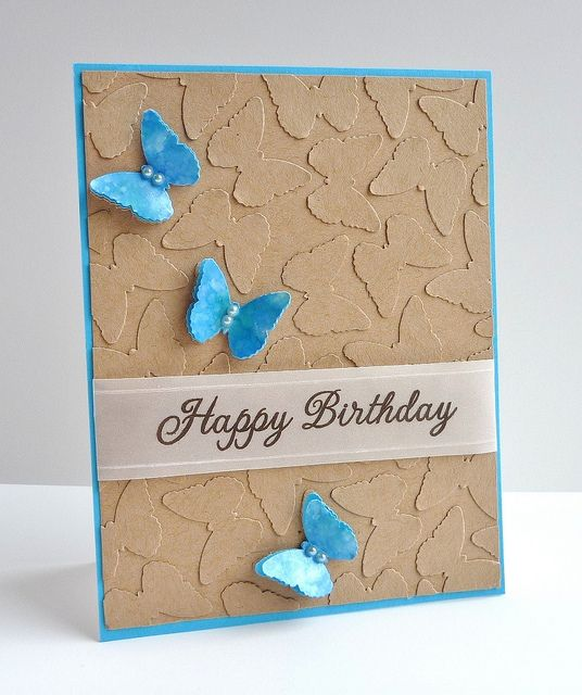 Punched butterflies and kraft CS