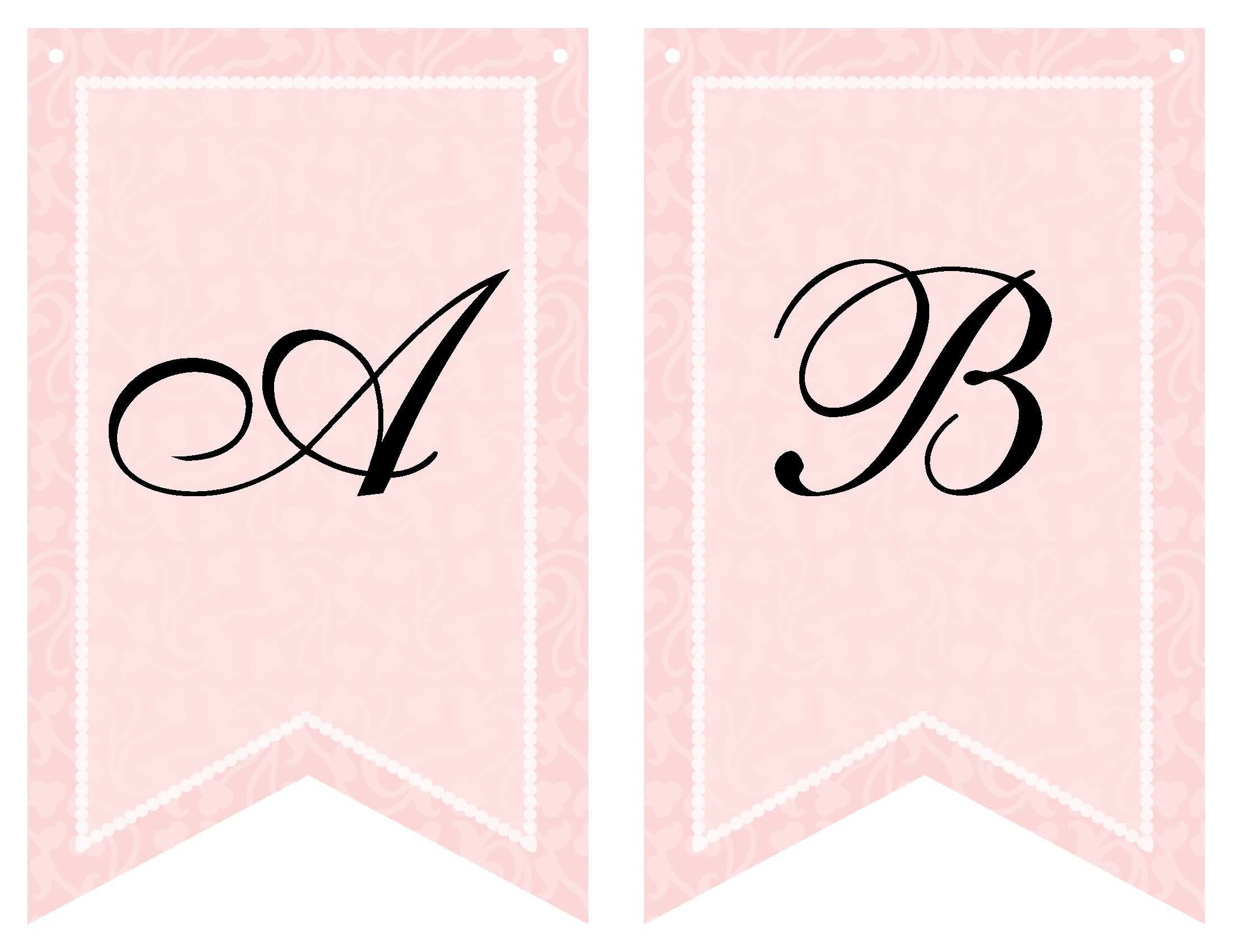 Punchy image regarding free printable bridal shower banner